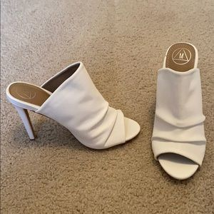 Misguided all white heels NWOT